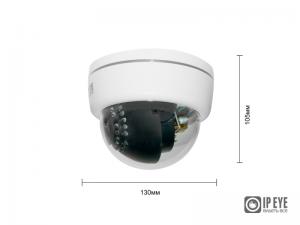 Купольная 5Мп IP-камера IPEYE-D5-SUNPR-2.8-12-01