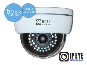 купольная 5мп ip-камера ipeye-3801v+ard