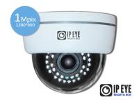 купольная 1мп ip-камера ipeye-3851+fish eye