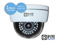 купольная 1мп ip-камера ipeye-3851s+fish eye