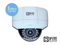 уличная антивандальная 1мп ip-камера ipeye-3853+fish eye